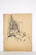 Jules PONCEAU Dessin 1912 Bordeaux Elèves Classe de dessin Lycée Montaigne ?
