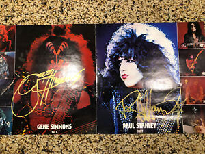 KISS Alive 2 Insert Originally Autographed By Gene Paul Ace Peter