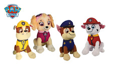 "NEW Paw Patrol 8"" Plush Stuffed Animal Toy Set - Chase, Rubble, Marshall & Skye"