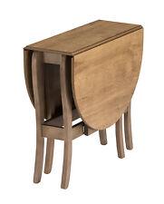 Drop Leaf Table Heatproof Folding Dining Kitchen Gateleg Seats 6 Oval Warm Oak