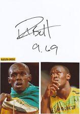 Usain Bolt  Jamaika Leichtathletik 9 x  1.OS  Karte original signiert WL 343832