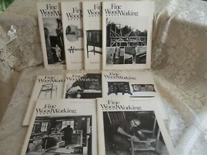 FINE WOODWORKING MAGAZINE    LOT OF 9    YEAR 1979 - 1980