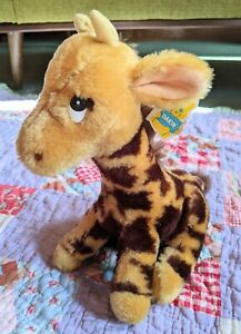 "NWT Vintage 1983 Dakin Giraffe Brown Tan Spotted Sitting 10"" 80's Plush"
