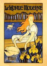 Le monde moderne 1896 art nouveau affiche mai fac-similé 120 sur papier papier
