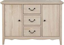 Tesco Loire 3 Drawer 2 Door Solid Pine Sideboard (limed Oak Finish)