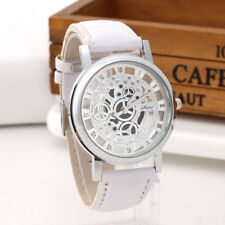 Luxury Men's Hollow Skeleton Manual Mechanical Stainless Steel Wrist Watch