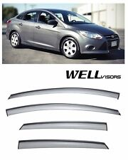 For 12-UP Ford Focus WellVisors Side Window Defectors Visors W/ Black Trim