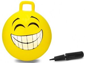 JAM460457 - Ball Smiley Bouncy With Pump Of Color Yellow