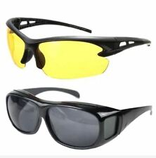 Night View Driving Glasses with Free Black HD Wrap Around