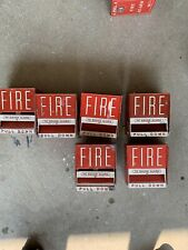 Vintage Firelite Fire Alarm Pull Stations metal Rare  5 Total All Function.