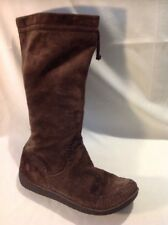 Clarks Brown Mid Calf Suede Boots Size 7D