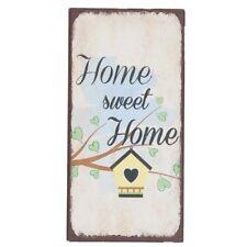 Magnet Home Sweet Home 5x10cm Clayre & fed/escudo de metal, escudo
