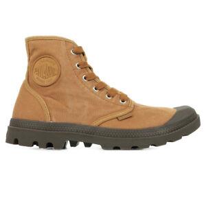 Chaussures Boots Palladium homme Pampa Hi taille Marron Textile Lacets