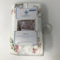Simply Shabby Chic Pink Floral Blooming Blossoms Standard Pillow Sham NEW