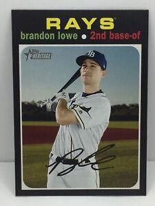 2020 Topps Heritage Brandon Lowe #255 Tampa Bay Rays