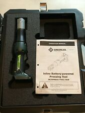 Greenlee Gorilla Cordless Battery Operated Inline Press Bare Tool with Case