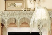 Lace Window Valance Ivory 3 in 1 Mantel or Lamp Shade Cover Livingroom