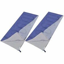 vidaXL 2x Lightweight Sleeping Bags Rectangular Outdoor Camping Sleep Wrap
