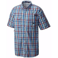 NEW COLUMBIA Men's PFG SUPER BONEHEAD CLASSIC SHORT SLEEVE SHIRT, SKYLER MULTI