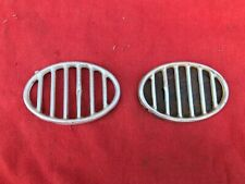 VW 50/60's Beetle original front guard horn grilles x 2 and one blank out plate