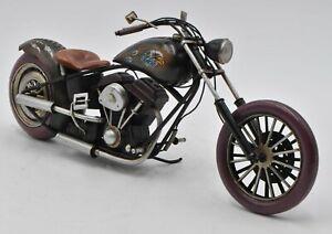 HANDMADE 1940s Black VINTAGE MODEL Indian MOTORCYCLE  SCALE Bike Shop Decorative