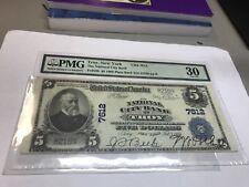 Troy ,New York, national city bank , 1902 PB , $5 ,  pmg VF30 , nice !