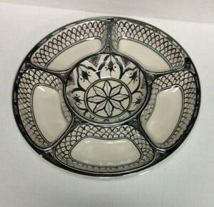 Pottery Barn Marrakesh Melamine Sectioned Serving Kitchen Dish Platter Plate