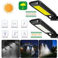 1pc Solar Street Light Waterproof PIR Motion Sensor Outdoor Garden COB LED Lamp