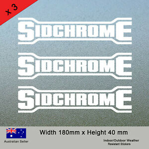 3x Sidchrome Stickers for Toolbox Laptop Sticker Decal Tradie Ute Tools car