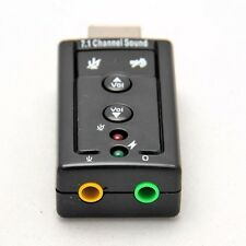 12Mbps USB 2.0 Virtual 7.1-Channel CH 3D Audio Sound Card Adapter