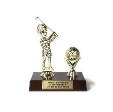 Golf Trophy- Comic Female- Fantasy- Hole In One- Desktop Series- Free Lettering