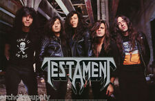 POSTER : MUSIC : TESTAMENT - GROUP POSE 1990 -  FREE SHIPPING ! #TMP001  LW24 G