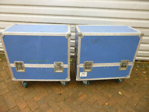 Pair of Professional Flight Cases with Wheels