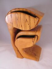 Stunning Artisan Carved Olive Wood Sculpture. 2 Drawer Box By Jerry Meyer.NR