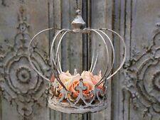 Chic Antique Krone Hängeampel Brocante Shabby Metall Vintage Landhaus