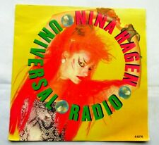 "NINA HAGEN Universal Radio 1985 DUTCH PRESSING 7""  VINYL SINGLE IN P/S VG/EX"