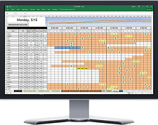 Call Center Agent Scheduling Software in Excel Spreadsheet (SS Schedules)