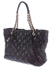 Chanel Crumpled Grained Calfskin Coco Pleats Tote in Black Caviar Leather France