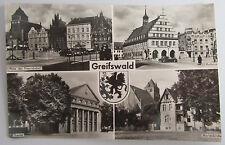 Greifswald DDR AK 1964 Marienkirche Theater u.a. frankiert 10 Pf. Olymp. Spiele