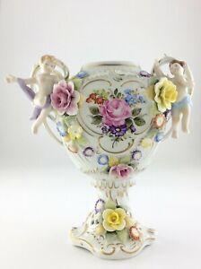 Meissen Dresden Vase Marked PMP 1817 Made in GDR Flower Decor Missing Lid S877