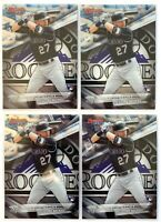(4) 2016 Bowman's Best #12 TREVOR STORY Rookie Card LOT Colorado Rockies RC