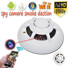 1080p HD Spy WiFi Camera Hidden Smoke Detector Motion Detection Nanny Cam DVR