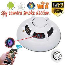1080p HD Spy WiFi Camera Hidden Smoke Detector Motion Detection Nanny Cam DVR