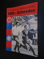DDR Fußball Programm 22 DDR ( DFV) - Schweden 1978 Länderspiel