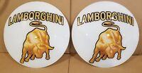 "15"" Lamborghini Gas Pump Globe Glass Lenses *Gas & Oil"