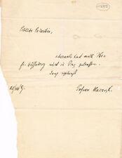 """Czechoslovakia President Tomáš G. Masaryk 1850-1937 autograph note signed 5.5x7"""""""