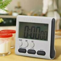 Lcd Digital Küche Kochen Große Timer Lauter Alarm Count Down X4N3 Up Clock E9U9