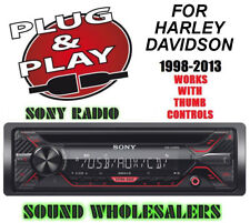 PLUG AND PLAY FOR HARLEY SONY DETACHABLE FACE CD AUX RADIO STEREO CD ADAPTER KIT