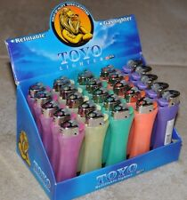 Toyo Lighters 25 pcs Refillable Gas Lighter 5 different color