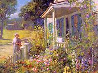 Dream-art Oil painting Graves, Abbott Fuller Summer Garden landscape on canvas